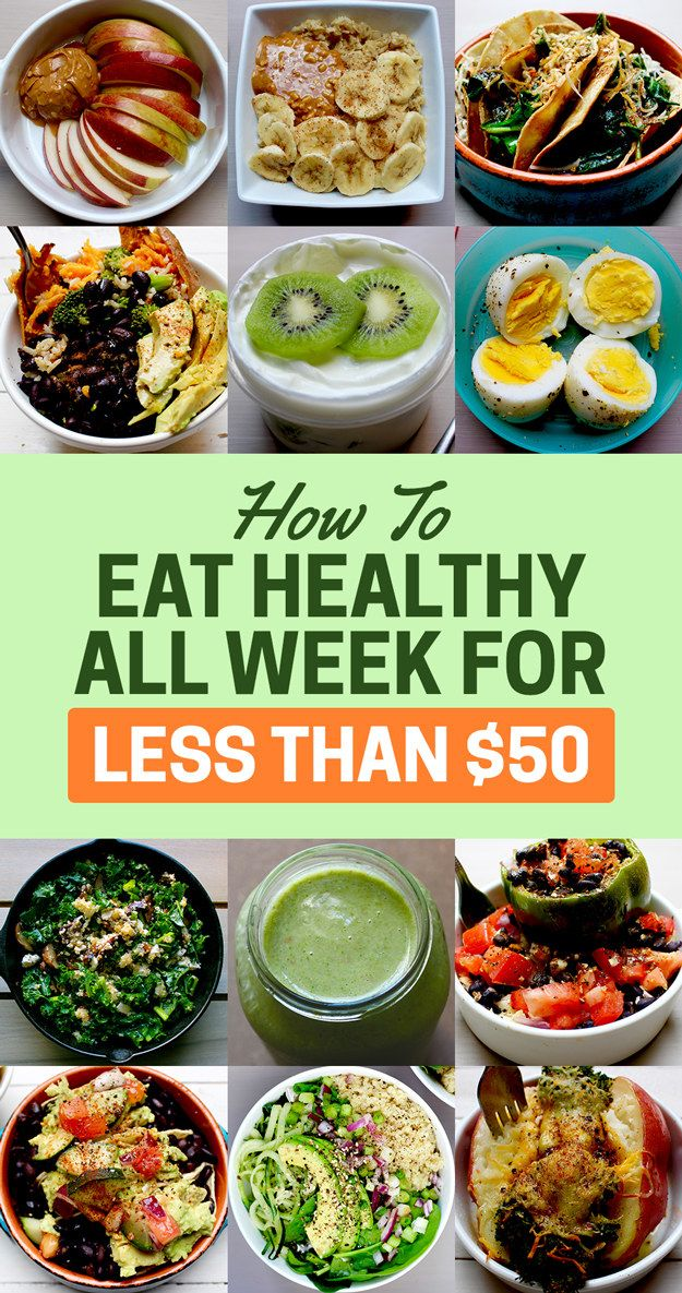 eating healthy for less than $50.00