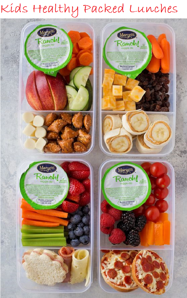 kids healthy packed lunches