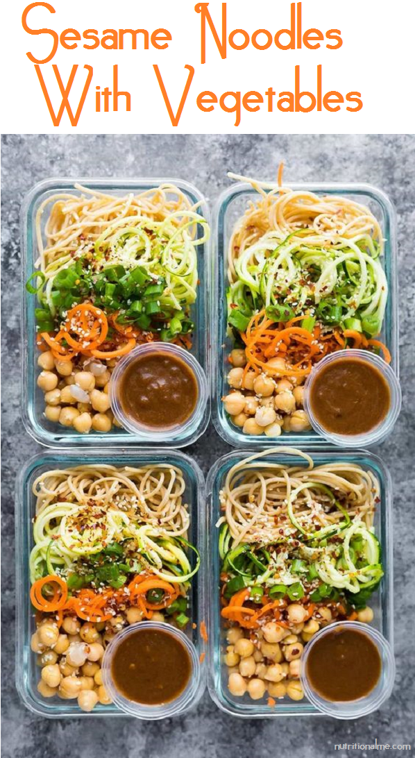 sesame noodles with vegetables